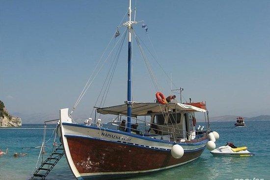 Viagem de barco Corfu, natação e...