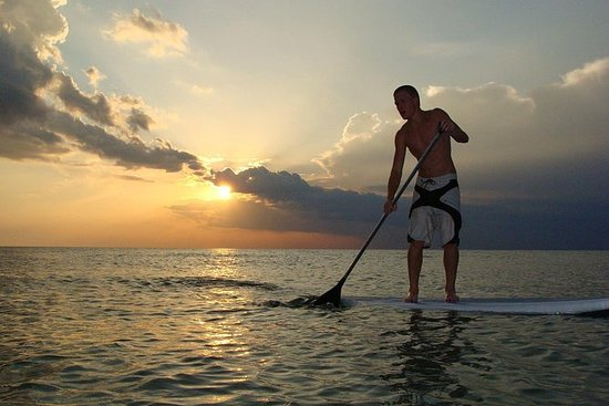 2 Stunden Sunset Paddle Board Verleih