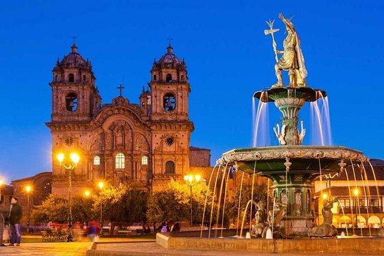 库斯科之夜,Cristo Blanco,天文馆 - 晚餐和皮斯科城市的灯光和星星