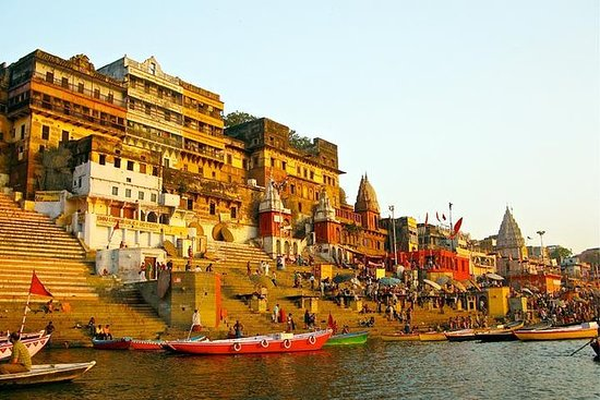 Sunset in Varanasi with Ganga Aarti...