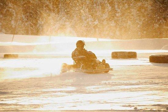 Carrera de karts de hielo