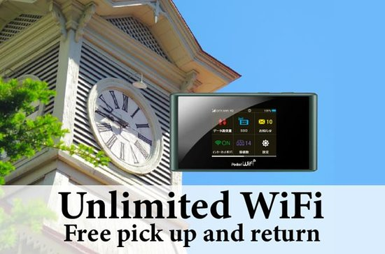 Unlimited WiFi in Japan pick up at...