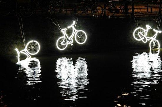 Amsterdam Light Festival de Bicicleta