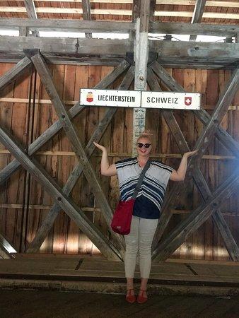 Foot bridge between Liechtenstein and Switzerland