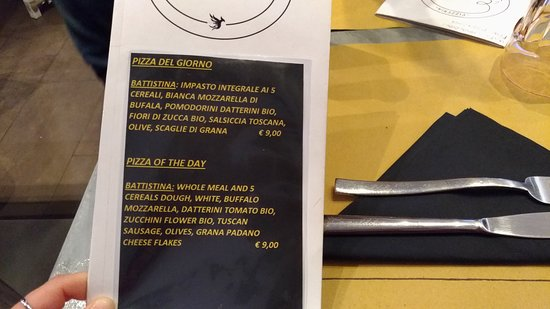 Pizzeria I Camaldoli: menu