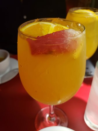 while passionfruit sangria