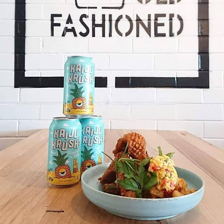 Fried Chicken and Corn Salsa. Why not pair it with a can of Kaiju Krush? Yes!