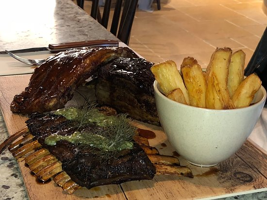 The mixed ribs - lamb, pork and beef