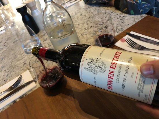 The Butcher's Block: Pouring the delicious Bowen Estate Cab Sav