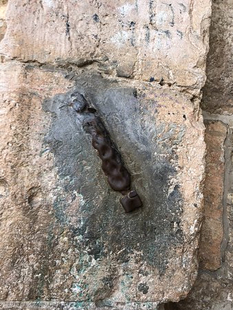 a mezuzah Zion Gate also known as King David's Gate