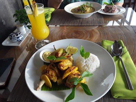 Chicken and mango kebab