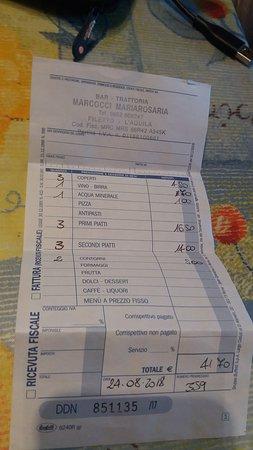 Filetto, Italie : Scontrino