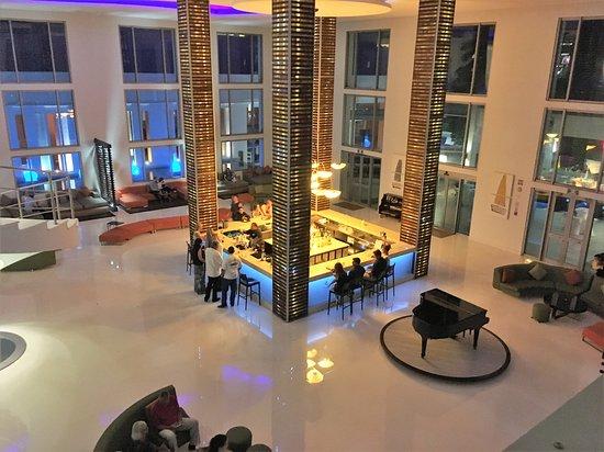 Lobby bar at night
