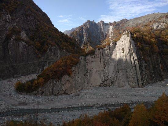 Ismailly, Azerbaijan: The river canyon near the village