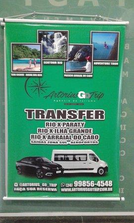 Transfer executivo e turístico Rio de Janeiro, Paraty, Angra dos Reis, Ilha Grande, Búzios, Arraial do Cabo, Petrópolis, Teresópolis.