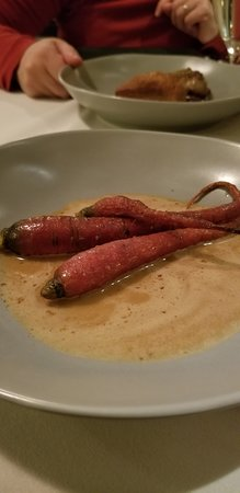 Holicong, PA: Carrots in lobster bisque