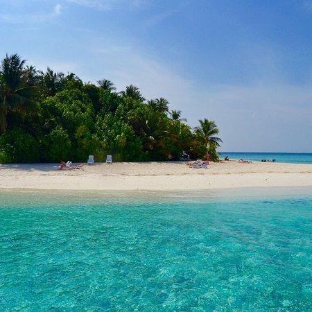 Fihalhohi Island: Dal pontile OW