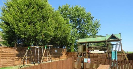 Earby, UK: Our purpose built children's secure play area next to our large beer garden