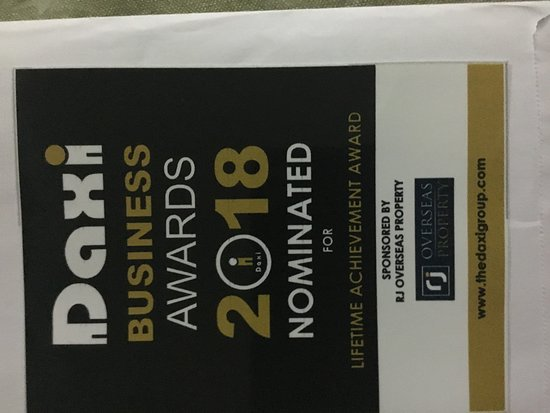 Very pleased to have been awarded for a Cyprus Daxi Business award.
