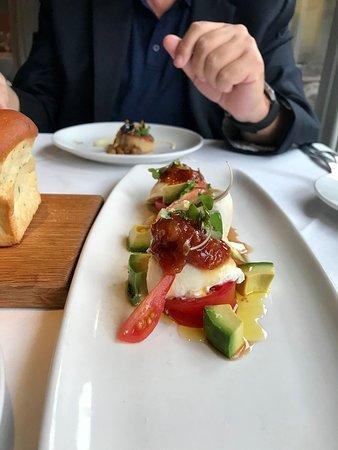 Selanne Steak Tavern: Tomato, Mozz and Avocado appetizer