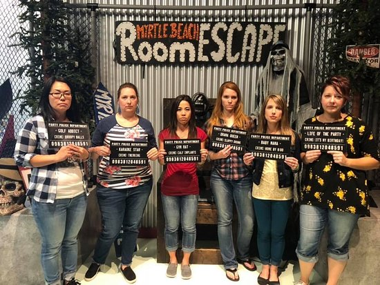 Our group photo at the end of the Jail Break Escape Room
