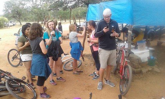 Biking on the zambian side