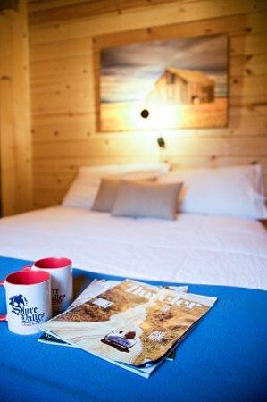 Dayton, WY: Cabin bedroom
