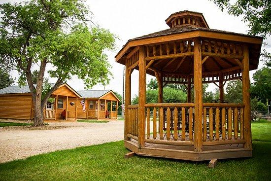 Dayton, WY: Cabin gazebo