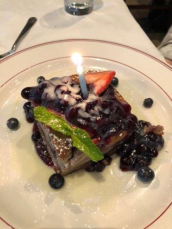 Char Restaurant: Blueberry bread pudding