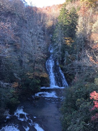 Connestee Falls as viewed from the viewing platform, NOV 2018