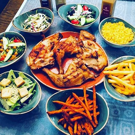 Flame Grilled Peri Flavored Chicken...with many options for sides🔥🔥🔥🔥#barcelosflamegrilledchicken