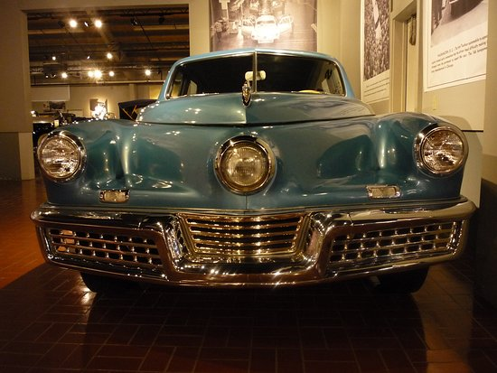 Hickory Corners, MI: The legendary Tucker Torpedo with the center headlight that turned with the steering wheel.