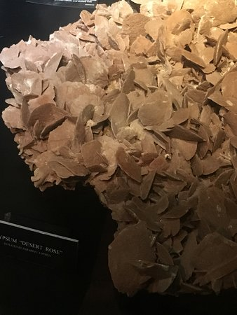Albert Kersten Mining and Minerals Museum (GeoCentre) : Gypsum crystal on display