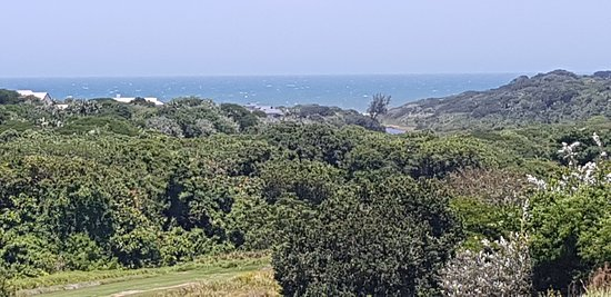 Prince's Grant Golf Course: The view of the ocean from the balcony of the unit we stayed in.