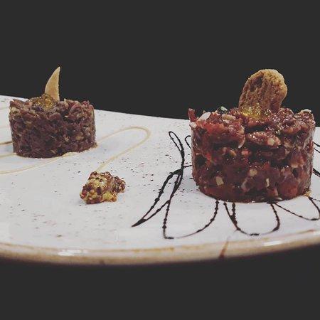 Presentación de los platos de La Barbacana, impecable, y el sabor, superior a la presentación.