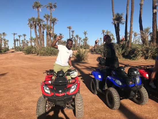 Marrakesh Quad Biking: Tea Break in the desert