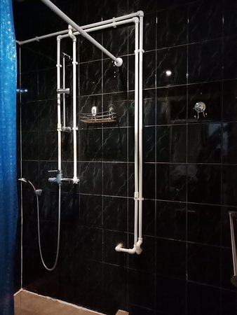 Hostel Time at the Red Gate: a shower