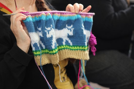 Haverfordwest, UK: Crochet Group on Mondays in VC Gallery in Pembroke Dock