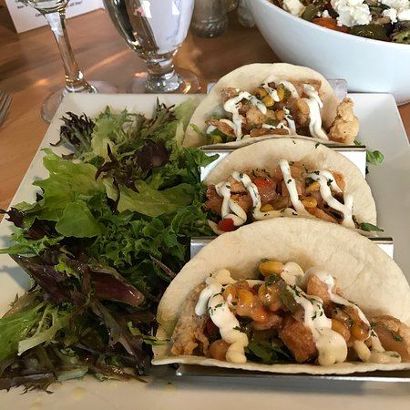 Port Hood, Canada: Fish Tacos made with both Haddock AND Salmon.