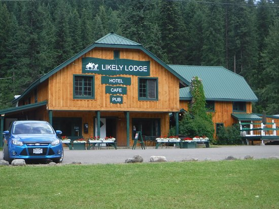 Likely Lodge, located on the shores of Quesnel River in downtown Likely.  General Store next doo