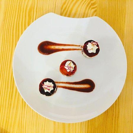Millefeuille de betterave et sa crème ciboulette