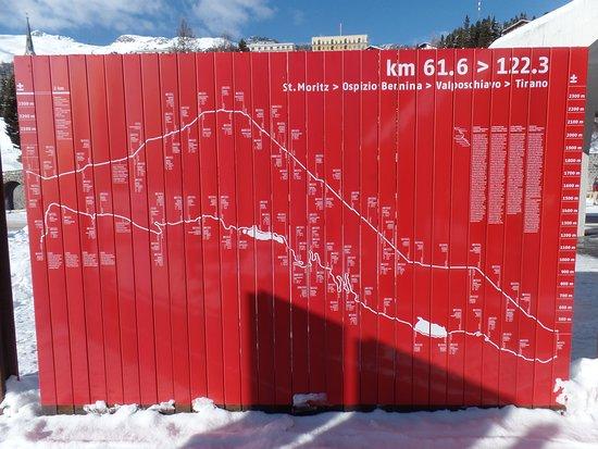 Pontresina, Suiza: Percorso del Trenino Rosso