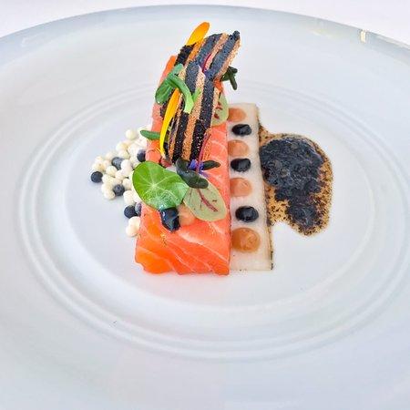 Prachtig gepresenteerde lunch in stijlvolle setting