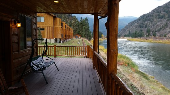 Paradise, MT: view of the new lodge from the balcony