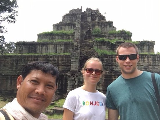 Koh Ker Temple located about 125km from Siem Reap of Cambodia