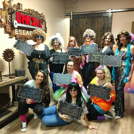 Out first ever Disco Divas to get the cash and escape from Disco54 Escape Room in Staten Island. Thank you ladies for being our first beautiful bunch to grace Unreal Escapes with you presence. You all were a blast.