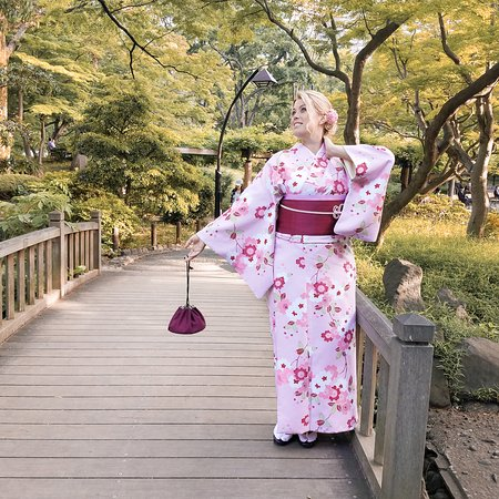 Hibiyakoen, Japan: When I visited Japan for the second time, I simply couldn't resist and HAD to do a Kimono Dress Up! It was an incredibly funny experience and I loved walking around Tokyo in a Kimono!  Find the blog post about the experience here: https://www.fernwehsarah.com/kimono-rental-yae-asakusa/