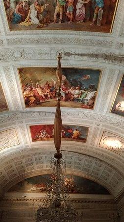 Palazzo Milzetti Museo Nazionale dell'eta Neoclassica in Romagna: Soffitto salone piano primo .