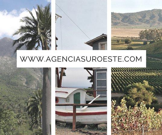 Suroeste: Valparaíso, Viña del Mar, Santiago, Cajon del Maipo, Viñedos, cordillera, mar y mucho más.