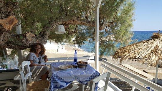 Koutsouras, Grèce: En la terraza.
